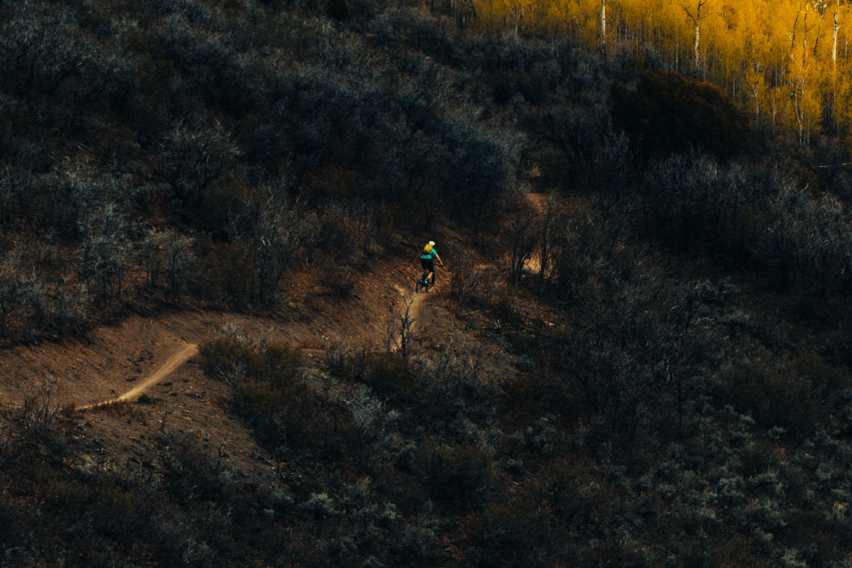 downhill mountain bike trail
